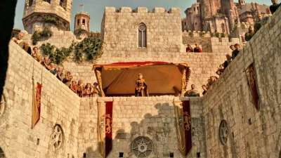 dubrovnik game of thrones scenes	joffrey's name day turney