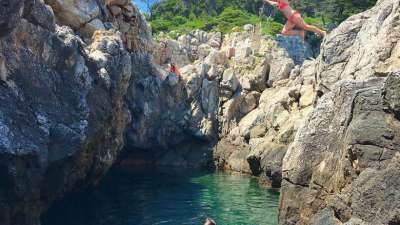 Cliff Jumping on Kolocep