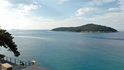 View on Lokrum island from balcony